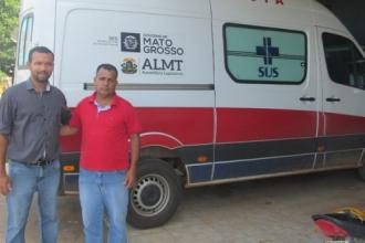 Vereador agradece Wancley por destinar ambulância para Vale de São Domingos